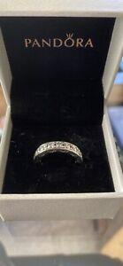 Pandora diamond silver ring