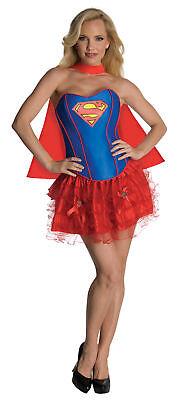 Dc Comics Supergirl Sexy Korsett Erwachsene Damen Kostüm Heldin Thema (Damen Sexy Supergirl Kostüme)