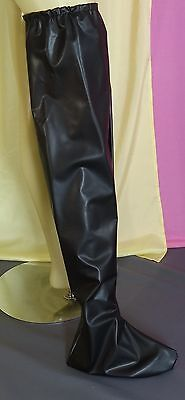Bett Stiefel bed socken socks calze black adult neu pvc plastic NEU Diargh