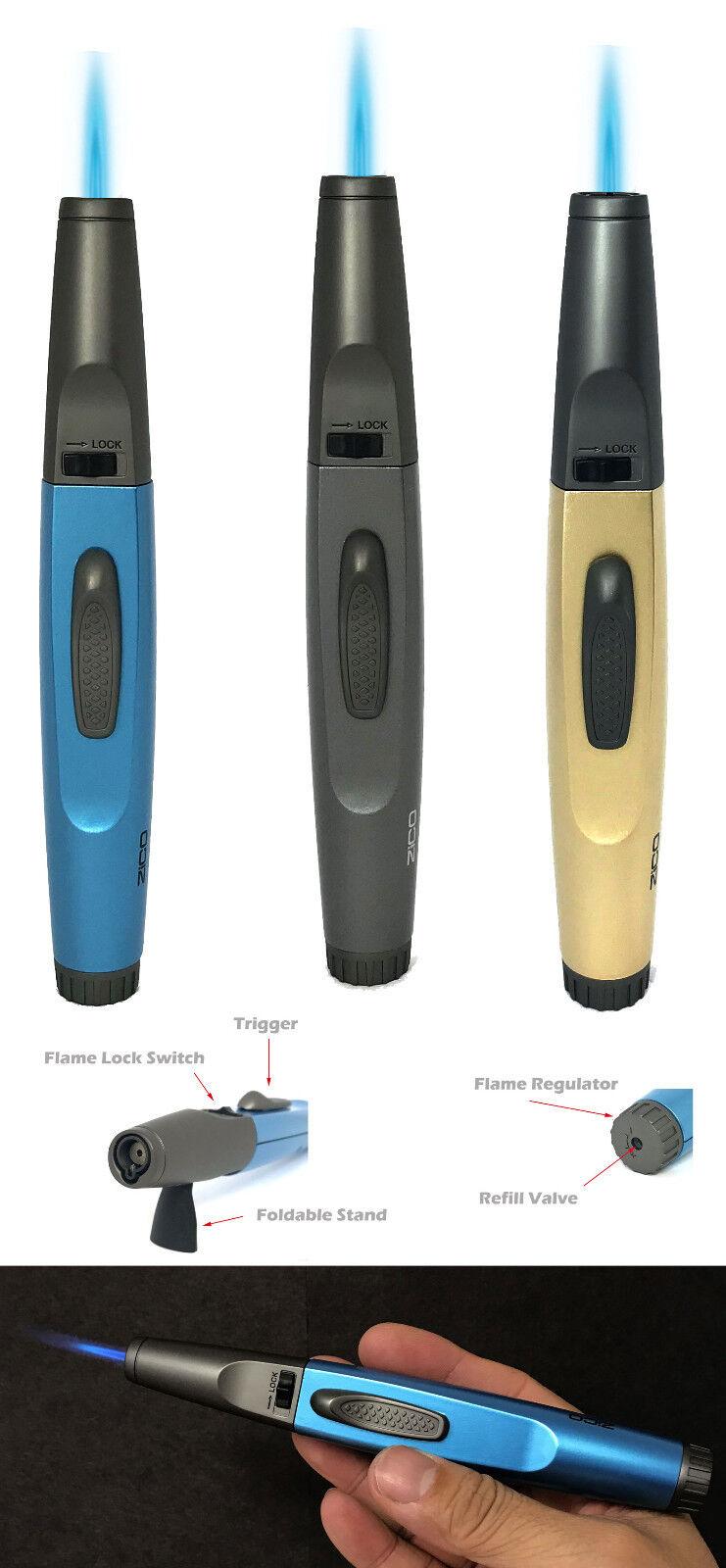 "Zico MT36 6 1/4"" Pen Gun Torch Lighter Metal Butane Refillab"