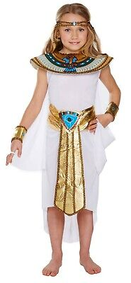 Girls Egyptian Girl Fancy Dress Up Costume Outfit Ages 4-12 yrs World Book - Girls Egyptian Costumes