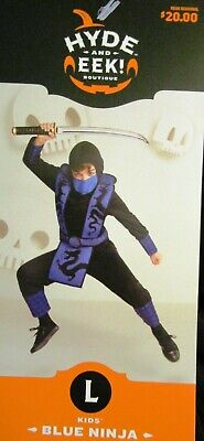 ⚔ BLUE NINJA Child Halloween Costume Size LARGE 12-14 Brand New w/Tag Dragons ⚔ ()