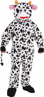 Cow Mascot Adult Mens Costume Nature Animal Funny Theme Cute Party Halloween](Cute Cow Costume)