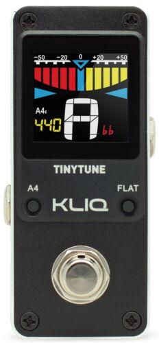 KLIQ TinyTune - Mini Chromatic Tuner Pedal for Guitar & Bass