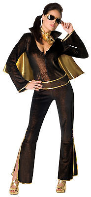 Elvis Female Adult Women Costume Presley Rockstar Famous Rubies 889203 - Female Elvis Costumes