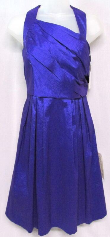Calvin Klein, Short Formal, Blue, Size 6, Party Dress, Asymmetrical neck, NWT