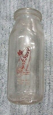 """Maple Grove Dairy Tomah WI Wisconsin Vintage 1/2 pt 5-1/2"""" Cream Bottle FREE S/H"""