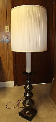 Large Vintage Brass Baluster Floor Lamp