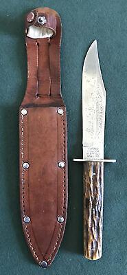 "ALFRED WILLIAMS SHEFFIELD ENGLAND ""EBRO"" OLD VINTAGE HUNTER KNIFE RARE OS."