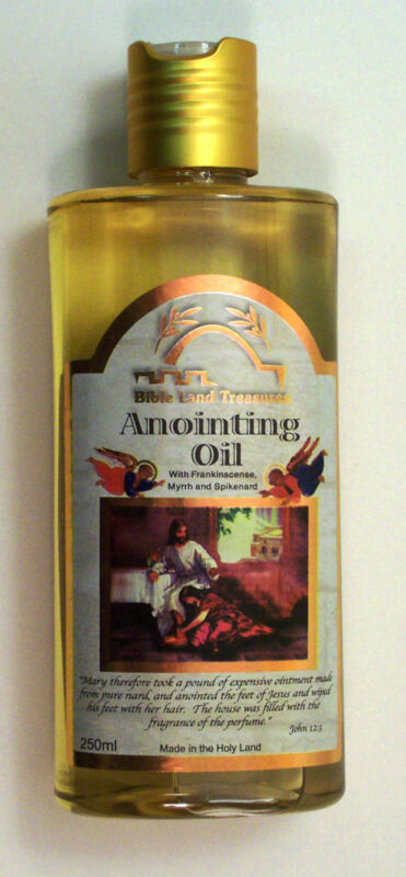 ANOINTING OIL FROM THE HOLY LAND FRANKINCENSE MYRRH SPIKENARD LARGE 250 ML
