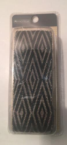 Luggage Strap Black Cream Diamond Pattern 2 X 72 Woven Adjustable Heavy Duty - $17.99