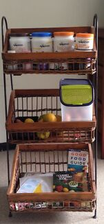 Storage Basket Wicker, Rattan & wood & wrought iron. Very strong Paddington Brisbane North West Preview