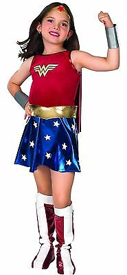 WONDER WOMAN Girls Deluxe Costume w/ Cape Kids Child Youth Size