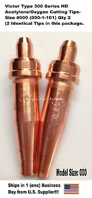 Oxygenacetylene Cutting Torch Tip - Victor Type Hd 300 Series- 1101-000 2pc