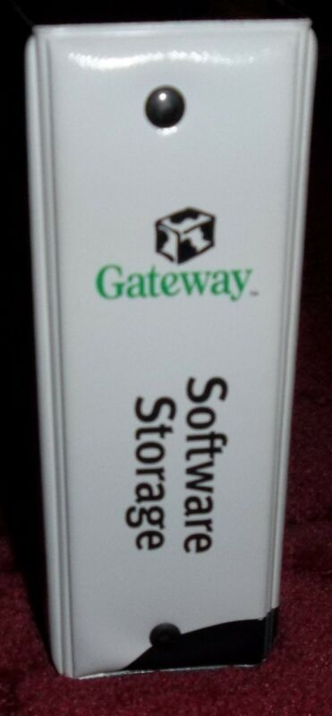 VINTAGE GATEWAY SOFTWARE STORAGE BINDER HOLDER 12 CD