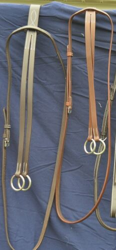 DaVinci plain flat leather running martingale. Chestnut Horse