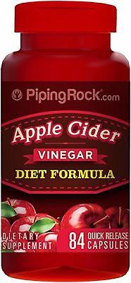 Apple Cider Vinegar 850Mg   B12 Weight Loss Metabolic Diet Supplement 84 Caps