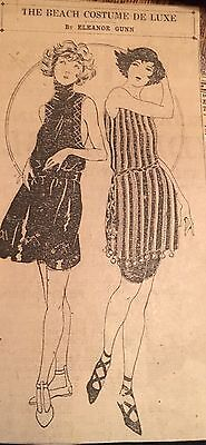 """1921 PAPER AD """"The Beach Costume Deluxe"""" Women's Bathing Suits Eleanor Gunn"""