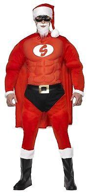 SMIFFY 36214 Super Weihnachtsmann Hero Santa Nikolaus Karneval Herren - Super Santa Kostüm