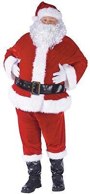 Santa Claus Suit 9 Pc Velours & Rand Kunstpelz Holiday Charakter Kostüm Plus (Holiday Charakter Kostüm)