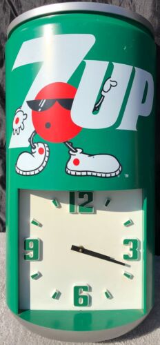 Vintage 7-UP Store Advertising Clock Can - Spot Character
