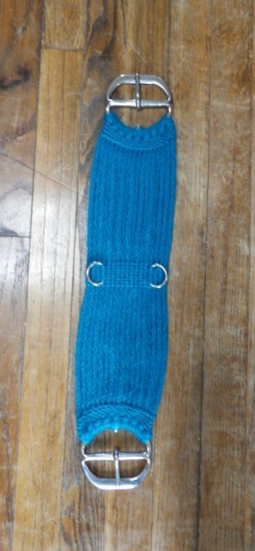 """26"""" 100% MOHAIR CINCH, TURQUOISE"""
