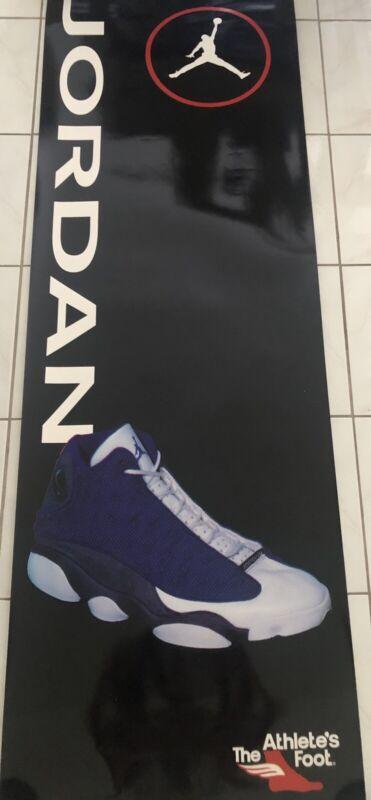 Vintage 90s Nike Michael Jordan Flint 13 Athelete Foot Store Display Last Dance