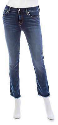 7 FOR ALL MANKIND Roxanne Ankle Jeans W/ Frayed Hem 7 For All Mankind Jeans Roxanne