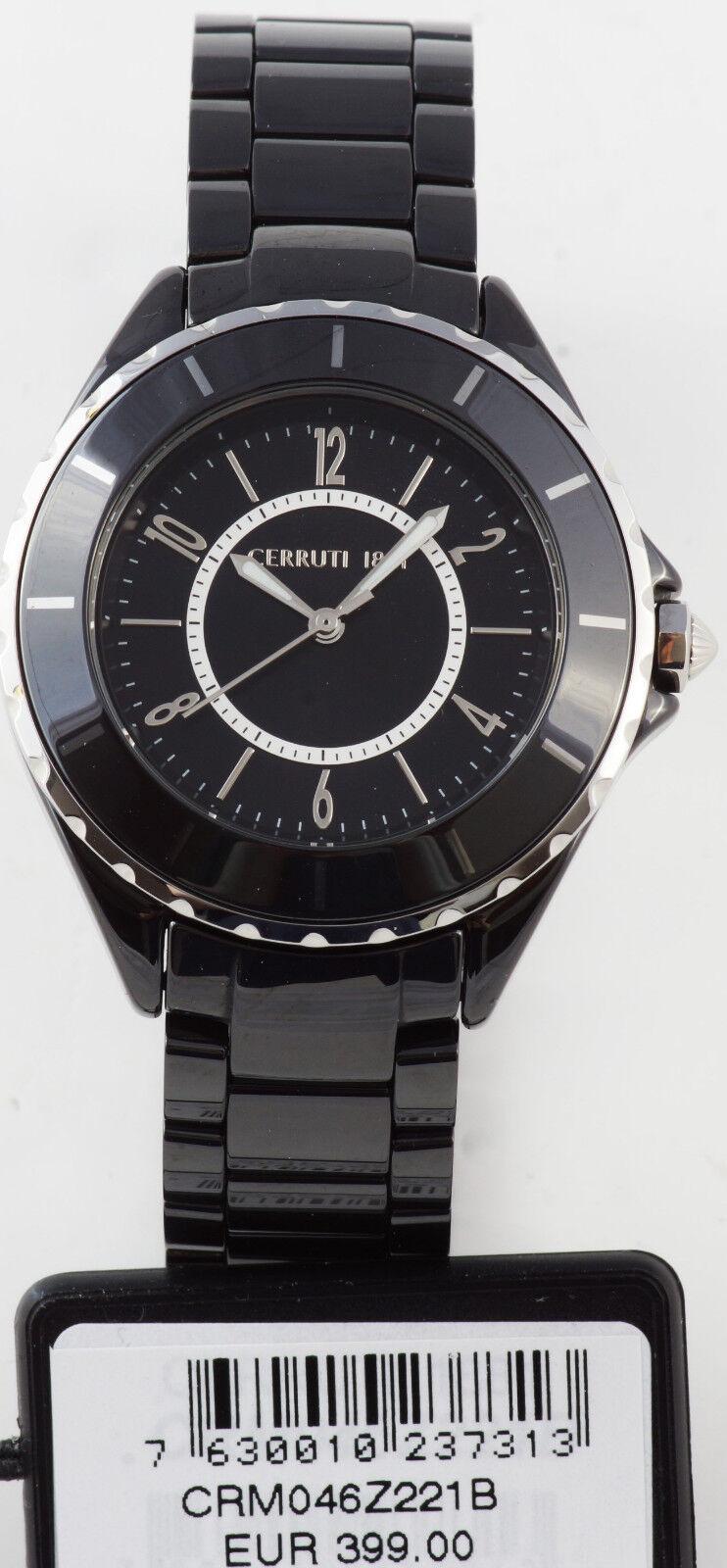 Cerruti 1881 Damen Uhr Damenuhr schwarz Keramik Ceramik NEU CRM046Z221B C104