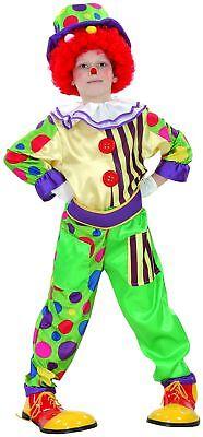 Lustiges Clown Kostüm für Jungen bunt Cod.221911