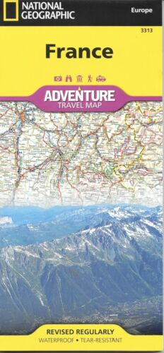 Map of France, by National Geographic Adventure Maps