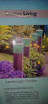 Glass Bollard garden lights set  (3 sets of 2)