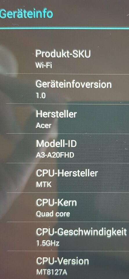 """Tablet Acer Iconia A3-A20FHD_10,1""""_Full HD_IPS_Quad Core 1,5GHz in Baden-Württemberg - Mannheim"""