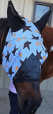 Equine Horse Fly Mask Summer Spring Airflow Mesh UV Mosquitoes Bugs Turq 73244