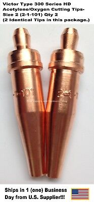 Oxygenacetylene Cutting Torch Tip - Victor Type Hd 300 Series- 1101-2 2pc