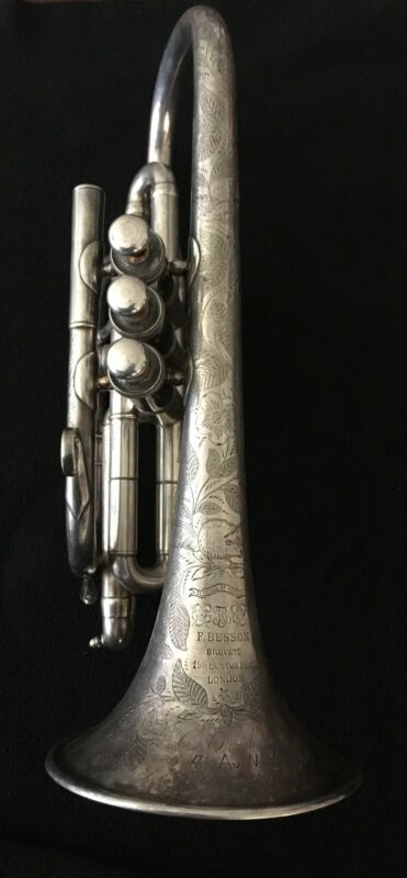 F. Besson Brevete Cornet- circa 1884 - Beautifully Engraved