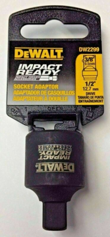 "DeWalt DW2299 Impact Ready Socket Adapter 1/2"" to 3/8"""