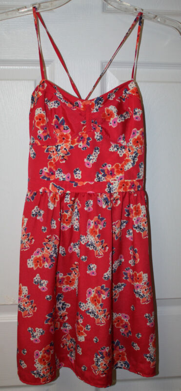 Womens Ladies American Eagle Outfitters Red Floral Print Sundress Size 2