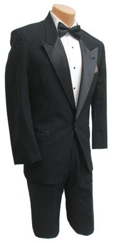 Boys 16 Black Christian Dior Tuxedo Jacket Satin Peak Lapels Wedding Ringbearer