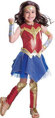 Rubies DC Comics Deluxe Wonder Woman Child Girls Halloween Costume 640026 - Kids Wonder Woman Halloween Costume Deluxe