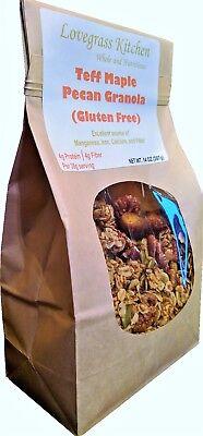 Gluten Free Teff Maple Pecan Granola. Handcrafted. No Added Sugar.