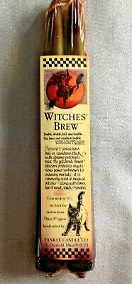 """Vtg. Witches Brew 8"""" Tapers *2 Candle per pack* Yankee Candle -1980's/90's-NOS"""