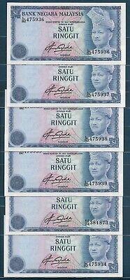 MALAYSIA 1 RINGGIT 1976 P 13a XF//AU