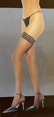 Leg Avenue Lycra Sheer (Leg Avenue Sheer Thigh Hi Stay Up Stocking with Lycra  OSFM & Plus LA1023(Q))