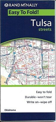 Tulsa, Oklahoma, Easy-to-fold, Street Map, by Rand McNally (Laminated & Folded) comprar usado  Enviando para Brazil