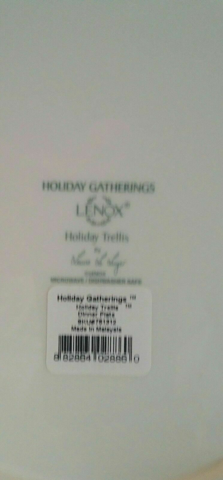 LENOX HOLIDAY GATHERINGS TRELLIS Dinner - $49.95