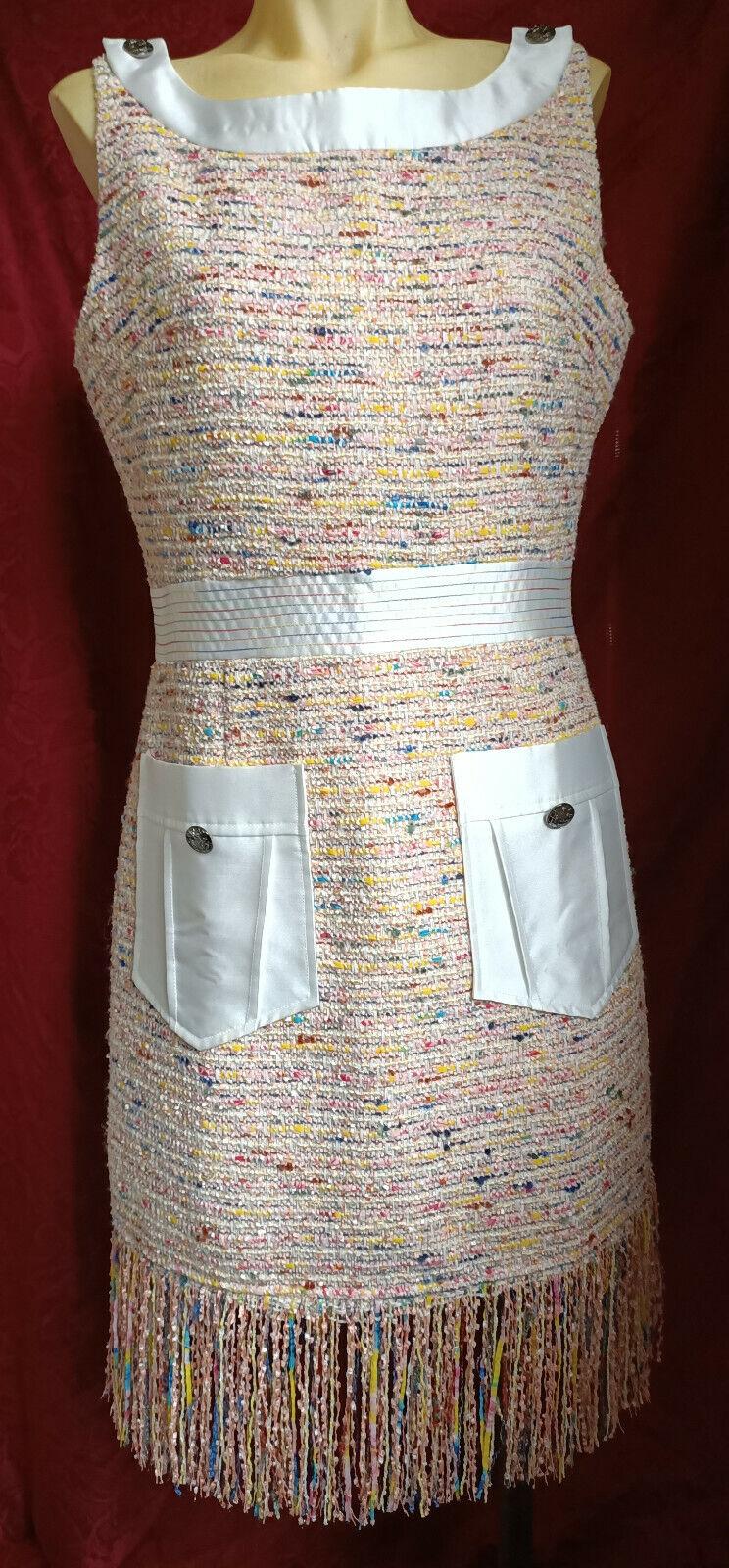 Chanel robe tweed et soie