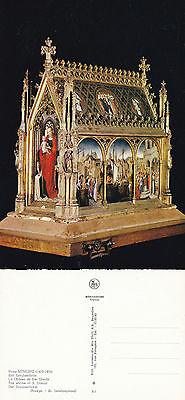 1970's THE SHRINE OF St URSULA BRUGES BELGIUM UNUSED COLOUR POSTCARD
