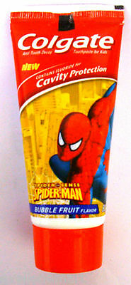 Colgate Toothpaste for Kids :: Bubble Fruit Flavor :: Spider Man :: 80 GM : Kids