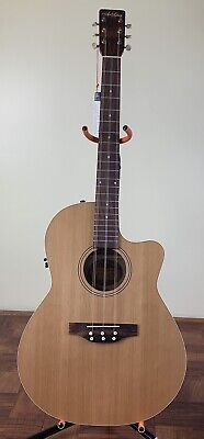 Tres Cubano-Cuban Tres Guitar Acoustic/Electric Cutaway Art & Lutherie With Bag